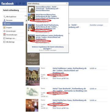 Die Facebook Suche