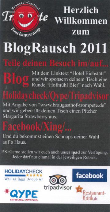 Der Blograusch - eine gelungene Social Media Aktion