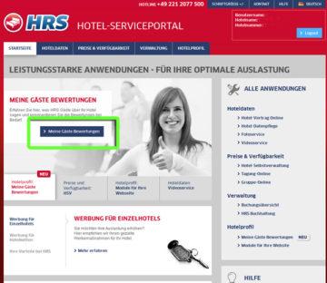 Hotel Service Portal HRS