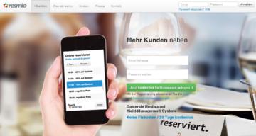 resmio Yield Management für Restaurants