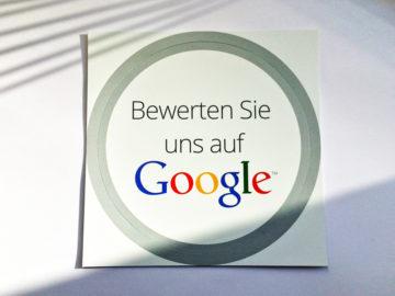 Google Bewertungen einsammeln